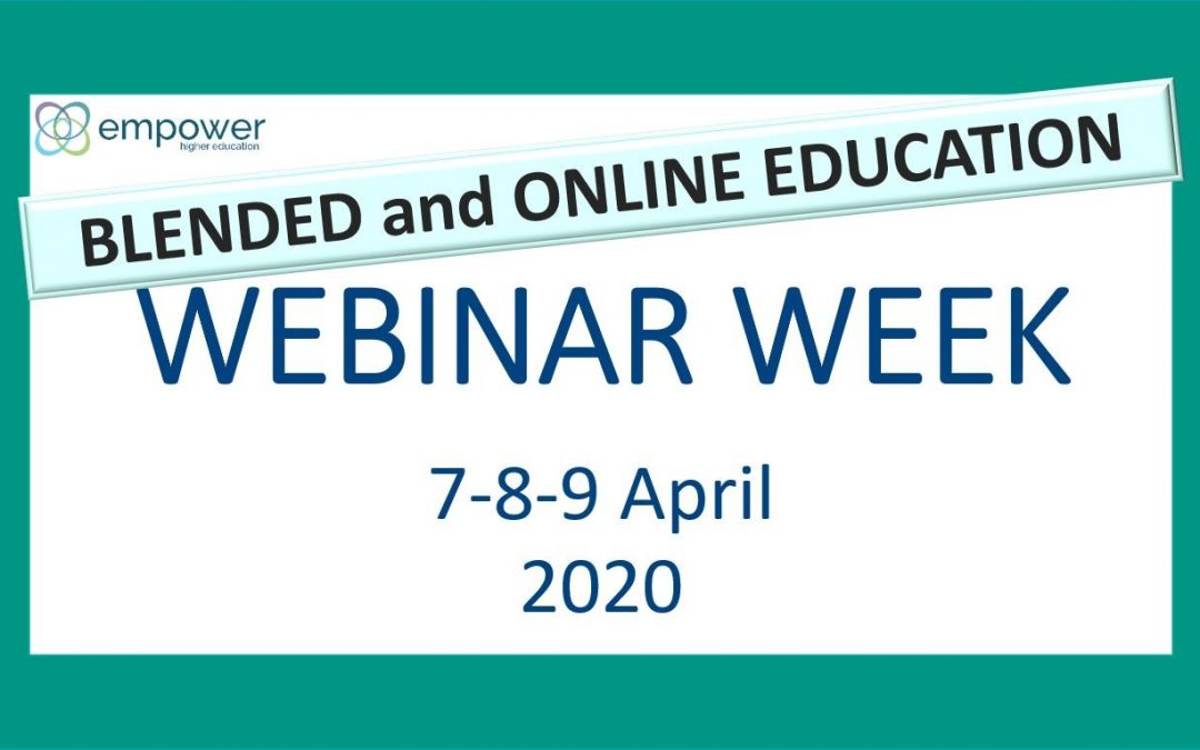Εβδομάδα Διαδικτυακών Σεμιναρίων της EADTU με θέμα Μεικτή Εκπαίδευση και Εκπαίδευση μέσω Διαδικτύου