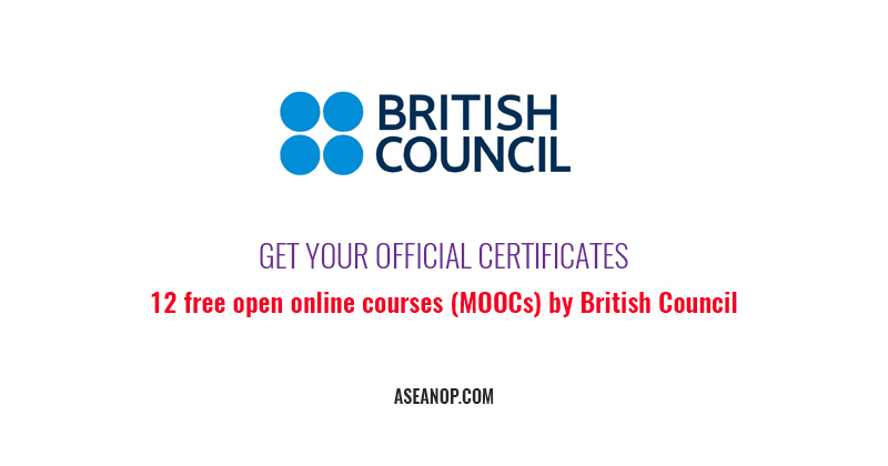 12 free open online courses (MOOCs) by British Council with Certificates