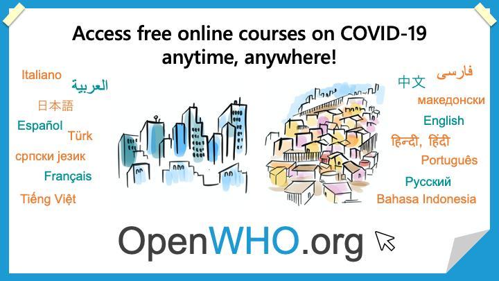 Ο Παγκόσμιος Οργανισμός Υγείας προσφέρει δωρεάν online μαθήματα για τον COVID-19