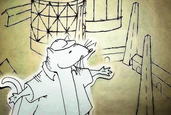 Ένας ποντικός τρύπωσε στο Γκάζι!