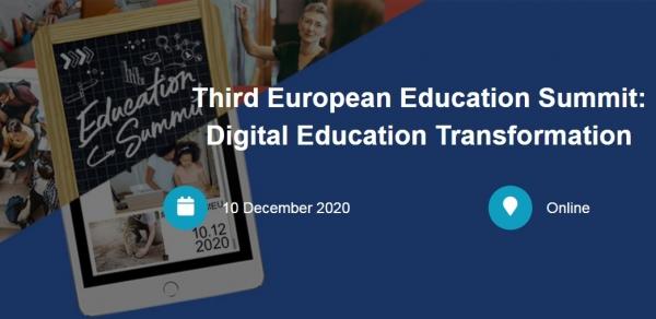 3η Πανευρωπαϊκή Συνάντηση Κορυφής για την Εκπαίδευση: Ψηφιακός Μετασχηματισμός στην Εκπαίδευση Οικοδομώντας έναν ανθεκτικότερο Ευρωπαϊκό Χώρο Εκπαίδευσης