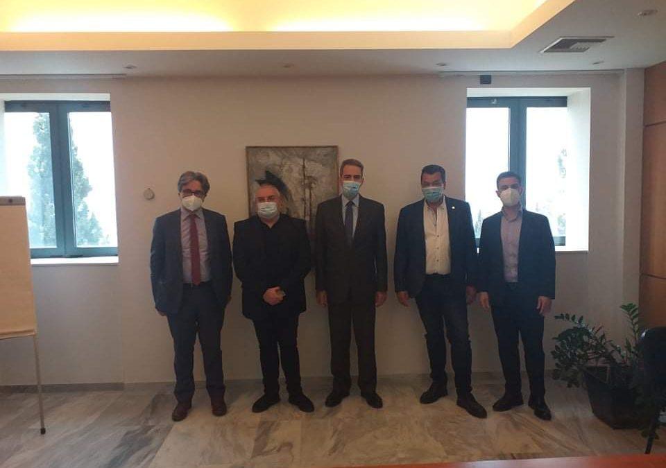 Συνάντηση εργασίας του Υφυπουργού και του Γενικού Γραμματέα Ανώτατης Εκπαίδευσης με τον Πρύτανη του ΠΑΔΑ