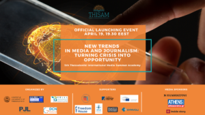 New trends in Media and Journalism: Turning crisis into opportunity