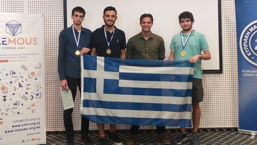 Σημαντική διάκριση για το Μαθηματικό τμήμα του ΕΚΠΑ: Ένα χρυσό μετάλλιο και δύο χάλκινα στον Διεθνή Διαγωνισμό Μαθηματικών SEEMOUS 2021