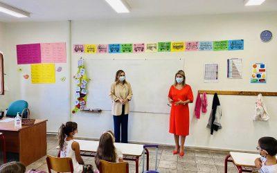 Η Ζέττα Μακρή σε σχολεία της Μαγνησίας για την έναρξη της σχολικής χρονιάς